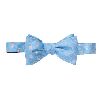 Mint Julep/Horse Shoe Bow - Lt. Blue